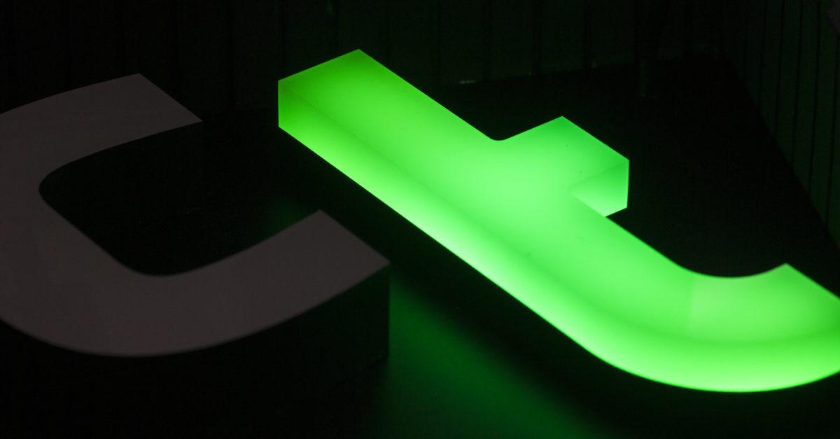 Lysskilt med LED-lys