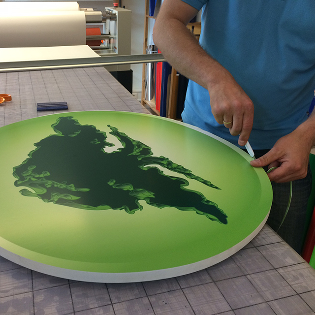 Utfrest PVC med print